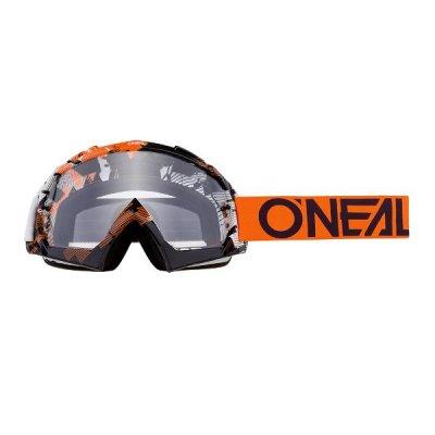 Goggle O'Neal B-10 PIXEL orange-white/clear