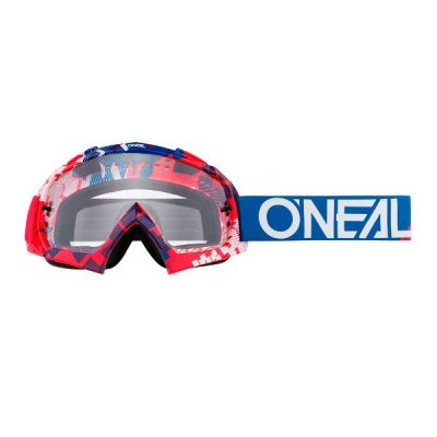 Goggle O'Neal B-10 PIXEL red-blue/clear