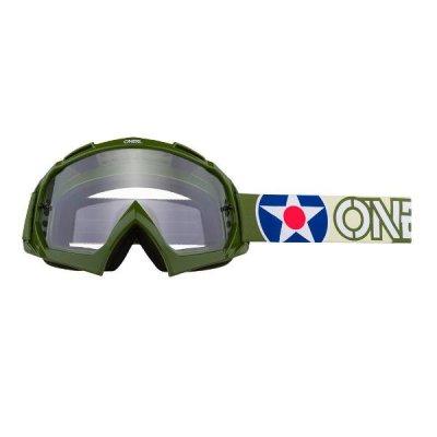 Goggle O'Neal B-10 WARHAW green-sand/clear