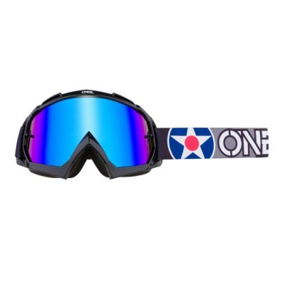 Goggle O'Neal B-10 WARHAW black-gray/radium-blue