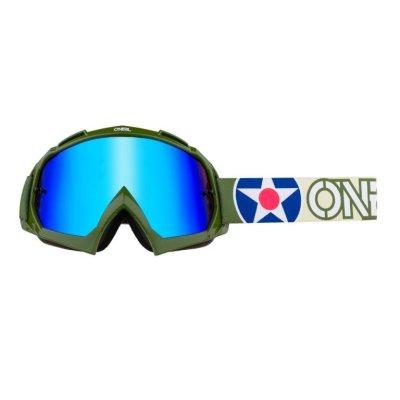 Goggle O'Neal B-10 WARHAW green-sand/radium-blue