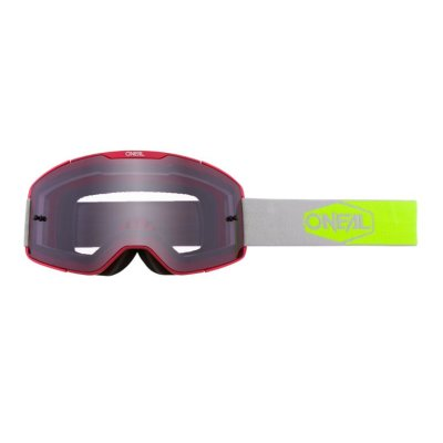 Goggle O'Neal B-20 PLAIN red/yellow-grey