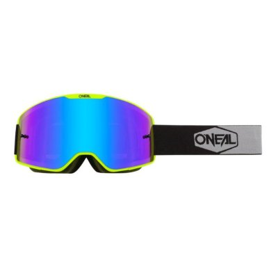 Goggle O'Neal B-20 PLAIN yellow/black-radium-blue