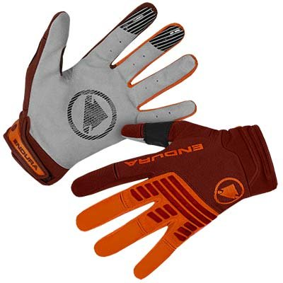 Endura rukavice Single Track Tangerine M