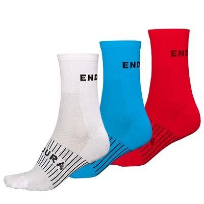 Endura čarape Cool-Max Race (3-pack) White S-M