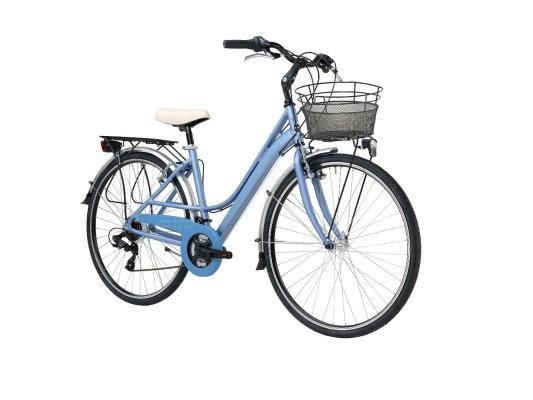 Adriatica bicikl City 3 ženski 45cm plavi+košara