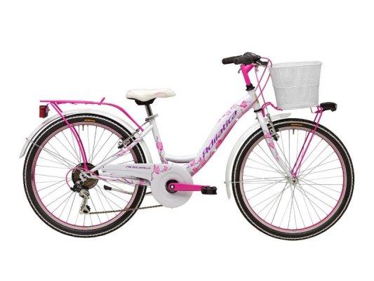 """Adriatica dječiji bicikl ženski 24"""" bijelo/rozi+košara"""