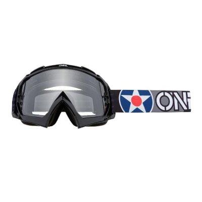 Goggle O'Neal B-10 WARHAW black-grey/clear