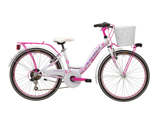 """Adriatica dječiji bicikl ženski 24"""" bijelo/rozi"""