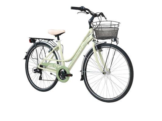 Adriatica bicikl City 3 ženski 45cm zeleni+košara