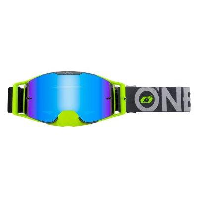 Goggle O'Neal B-30 BOLD grey-neon/radium-blue