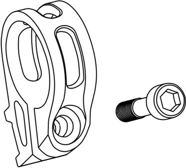 Obujmica ručice SRAM mjenjača srebrni