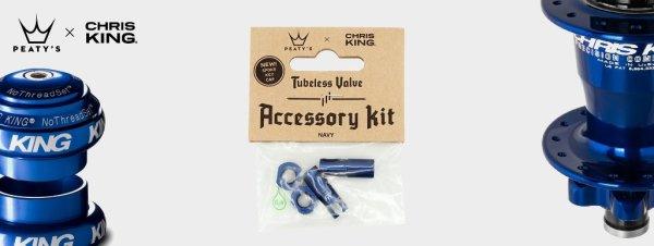 Peaty's accessory kit Tubeless ventila 42mm Navy