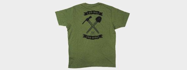 Peaty's Majica Go Dig Green XL