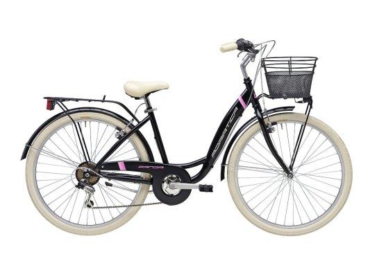 "Adriatica bicikl PANDA 26"" 6-br lady crni+košara"