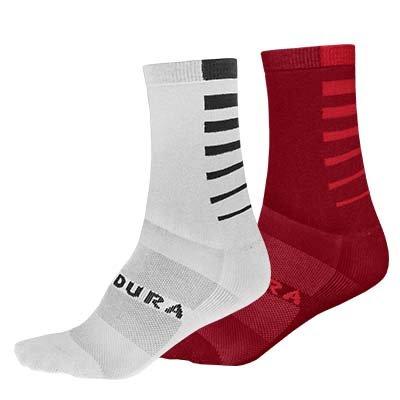 Endura čarape CoolMax Stripe Red-White L-XL