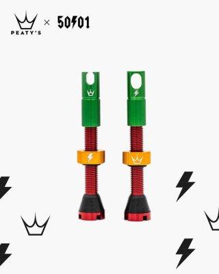 Peaty's Tubeless ventil MK2 42mm Rasta