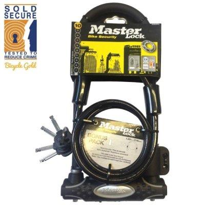 Lokot Master Lock U-lock 210x110x13mm + sajla