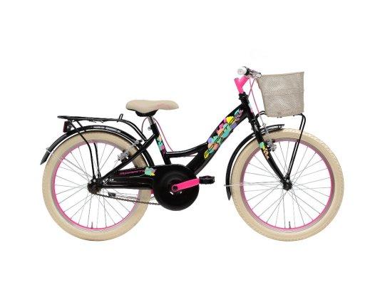 """Adriatica dječji bicikl ženski 20"""" crno/rozi"""
