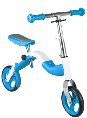 Bicikl guralica 2-u-1 romobil bjelo/plava