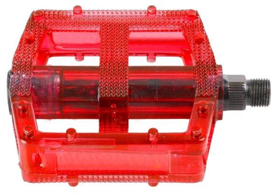 Pedale BMX PVC-body transparent-red