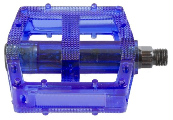 Pedale BMX PVC-body transparent-blue