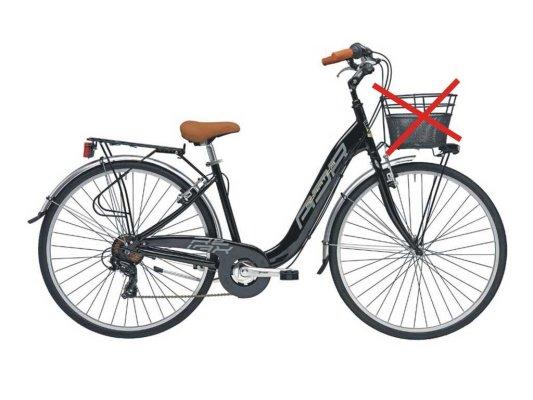 """Adriatica bicikl Relax 26-1.3/8"""" Alu 6-br CRNI 2018"""