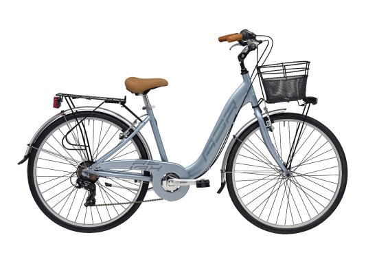 "Adriatica bicikl Relax 26-1.3/8"" Alu 6-br SIVI+košara"